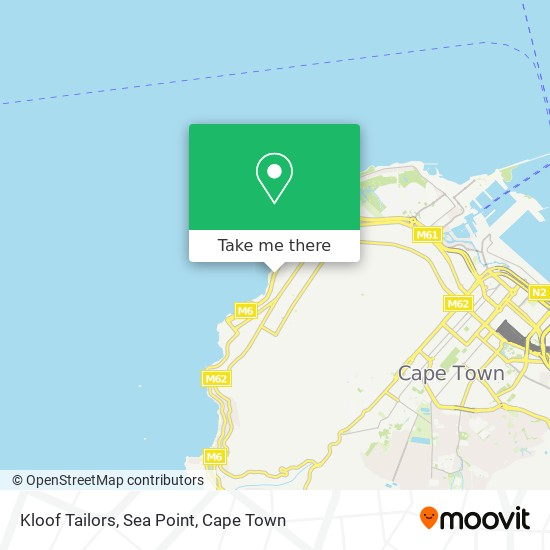 Kloof Tailors, Sea Point map