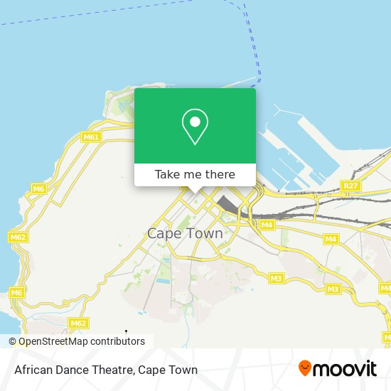 African Dance Theatre map