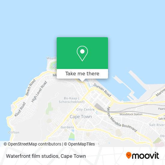 Waterfront film studios map