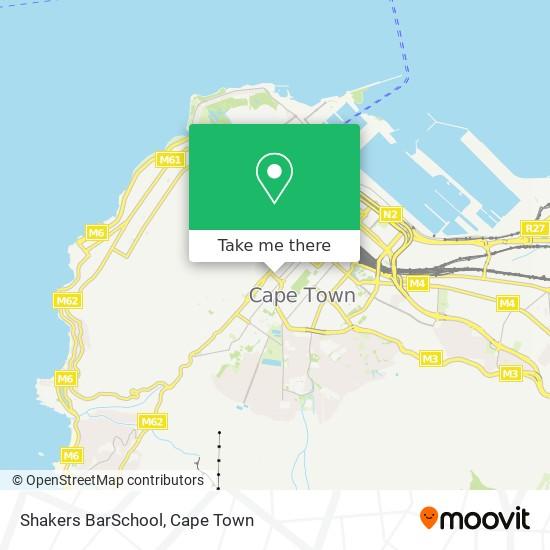 Shakers BarSchool map
