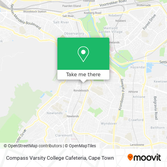 Compass Varsity College Cafeteria map