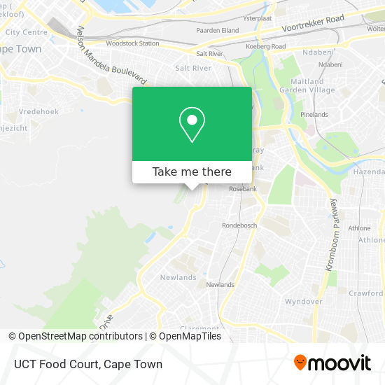 UCT Food Court map