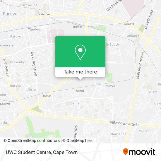 UWC Student Centre map
