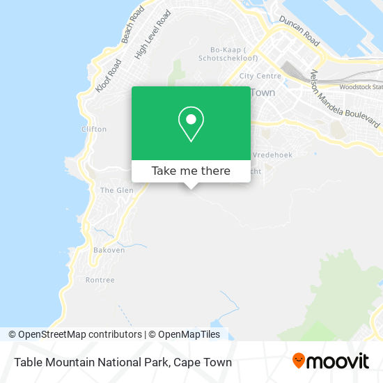 Table Mountain National Park map