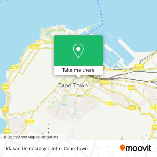 Idasa's Democracy Centre map
