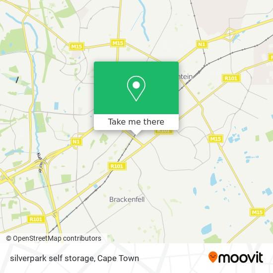 silverpark self storage map