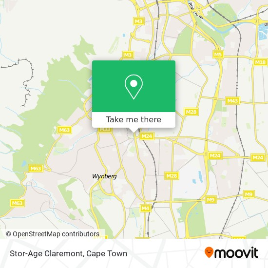 Stor-Age Claremont map