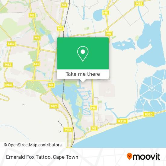 Emerald Fox Tattoo map