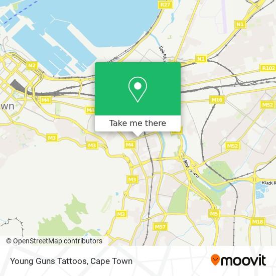 Young Guns Tattoos map