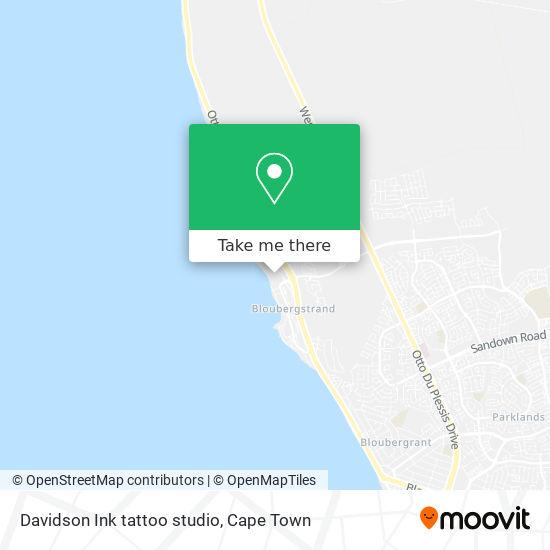 Davidson Ink tattoo studio map