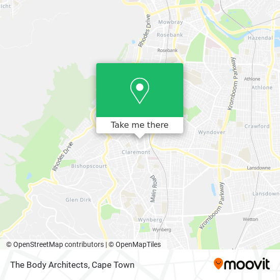 The Body Architects map