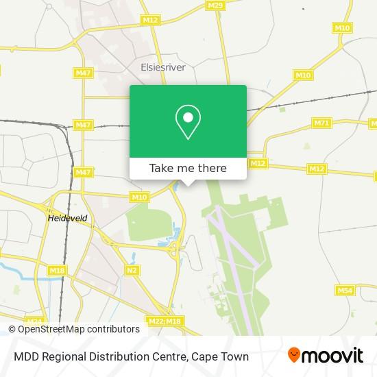 MDD Regional Distribution Centre map