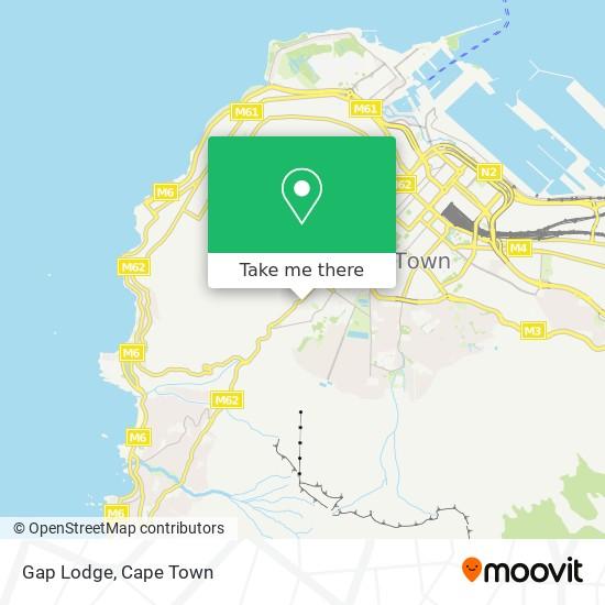 Gap Lodge map