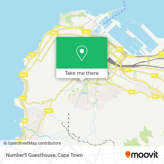 Number5 Guesthouse map