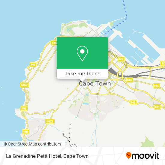 La Grenadine Petit Hotel map
