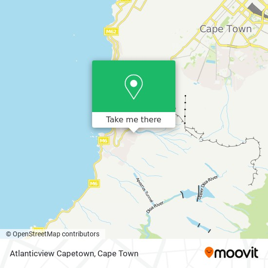 Atlanticview Capetown map