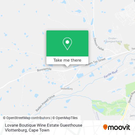 Lovane Boutique Wine Estate Guesthouse Vlottenburg map