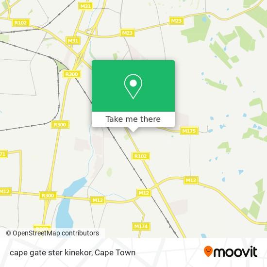 cape gate ster kinekor map