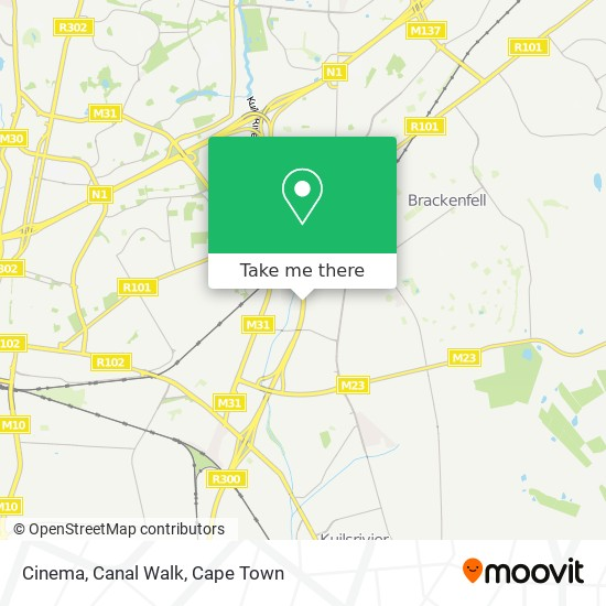 Cinema, Canal Walk map