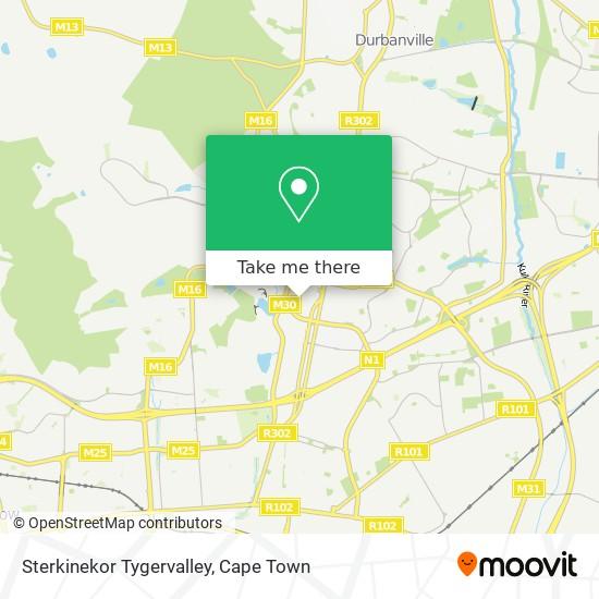 Sterkinekor Tygervalley map