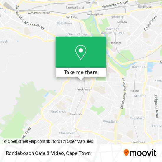 Rondebosch Cafe & Video map