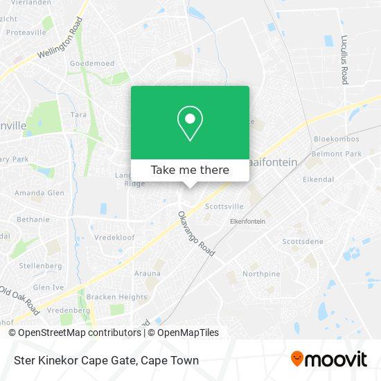 Ster Kinekor Cape Gate map