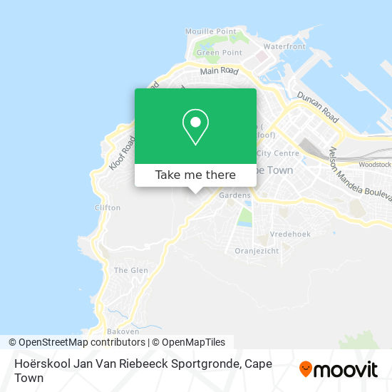 Hoërskool Jan Van Riebeeck Sportgronde map