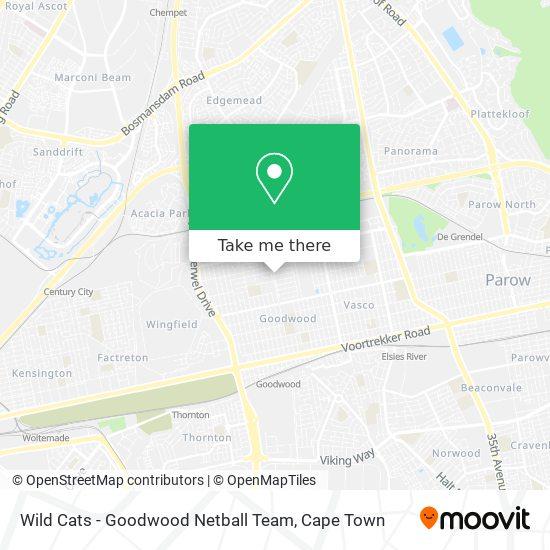 Wild Cats - Goodwood Netball Team map