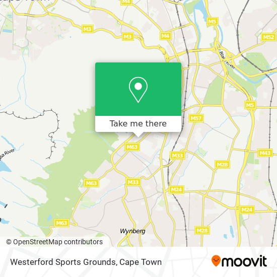 Westerford Sports Grounds map