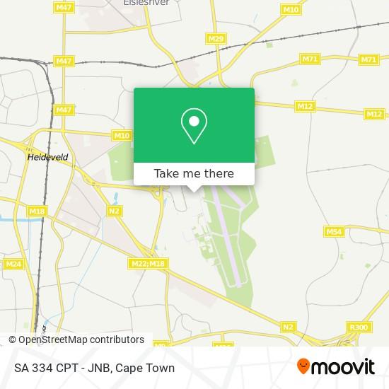 SA 334 CPT - JNB map