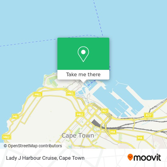 Lady J Harbour Cruise map
