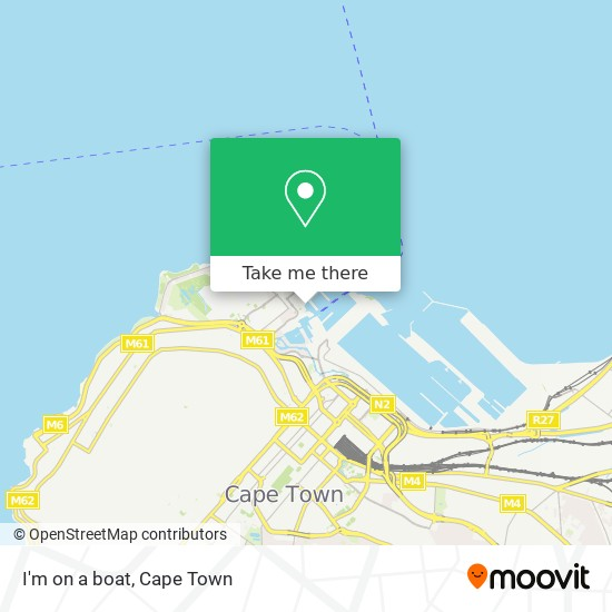 I'm on a boat map