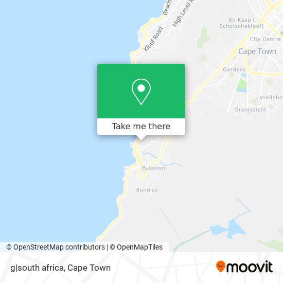 g|south africa map