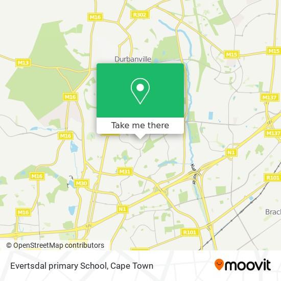 Evertsdal primary School map