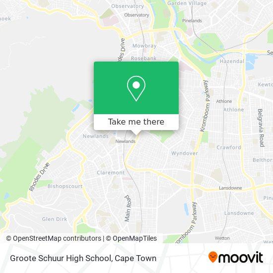 Groote Schuur High School map