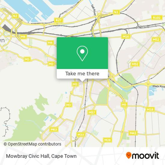Mowbray Civic Hall map