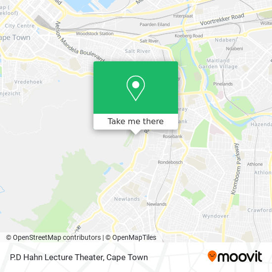 P.D Hahn Lecture Theater map