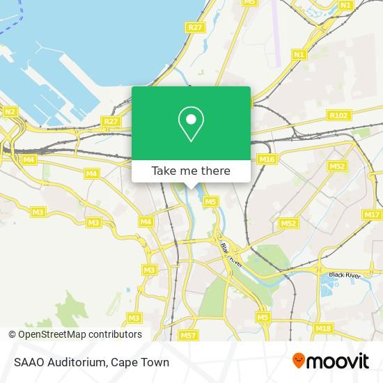 SAAO Auditorium map
