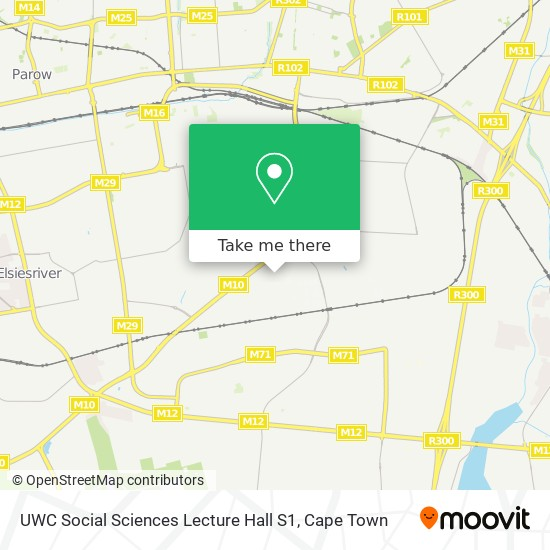UWC Social Sciences Lecture Hall S1 map