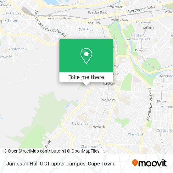 Jameson Hall UCT upper campus map