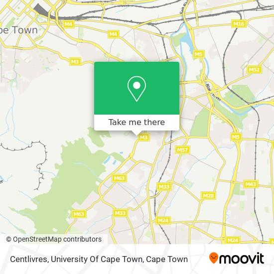 Centlivres, University Of Cape Town map
