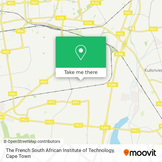 The French South African Institute of Technology map