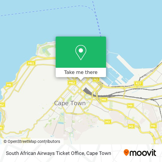 South African Airways Ticket Office map