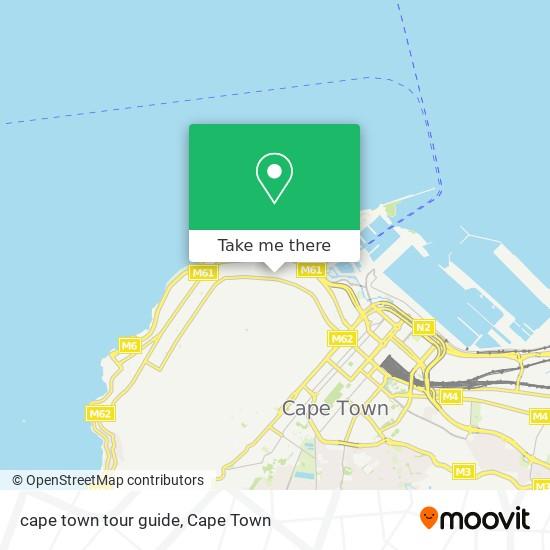 cape town tour guide map