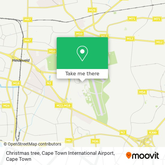 Christmas tree, Cape Town International Airport map