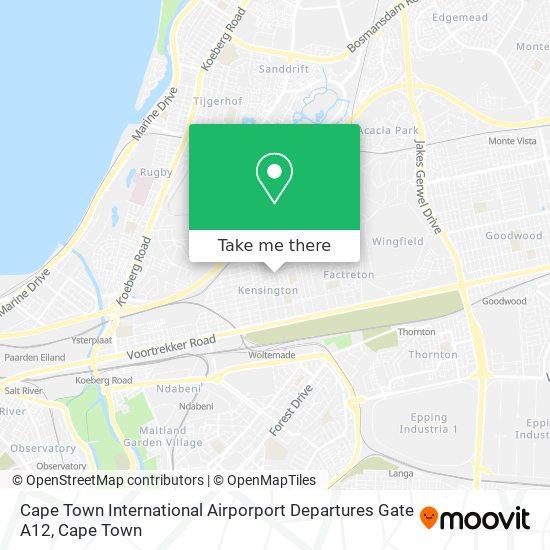 Cape Town International Airporport Departures Gate A12 map