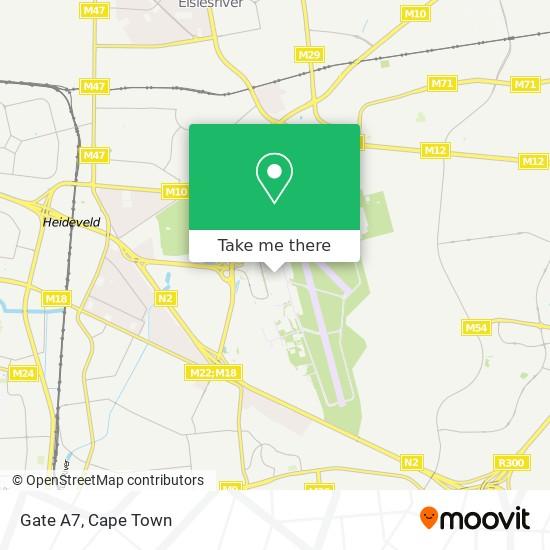 Gate A7 map