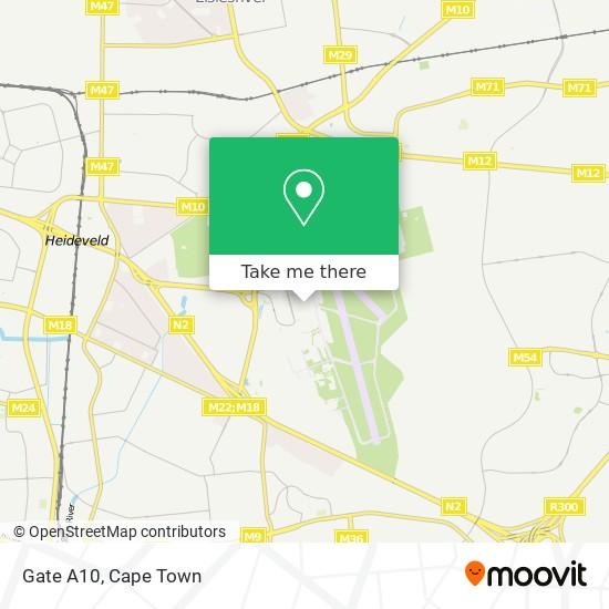 Gate A10 map