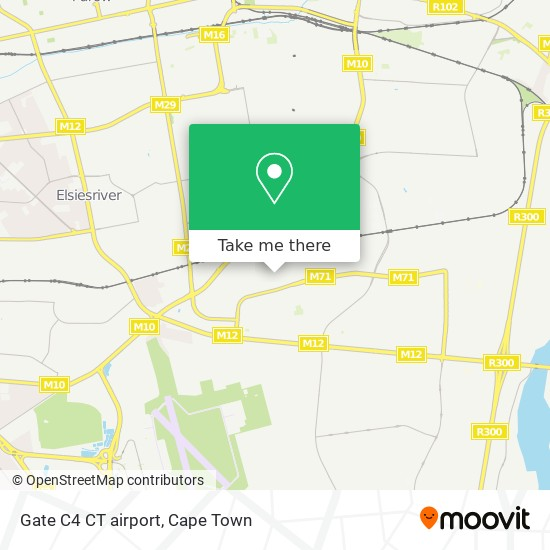 Gate C4 CT airport map
