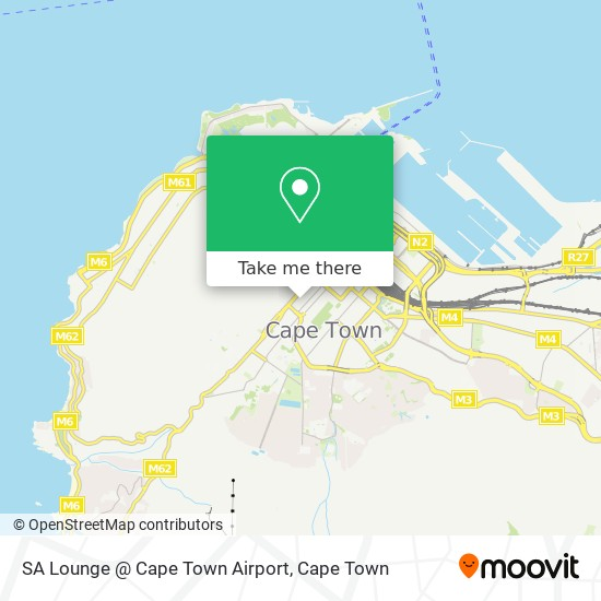 SA Lounge @ Cape Town Airport map